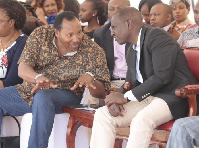Kiambu Governor Ferdinand Waititu and Deputy President William Ruto during a past event