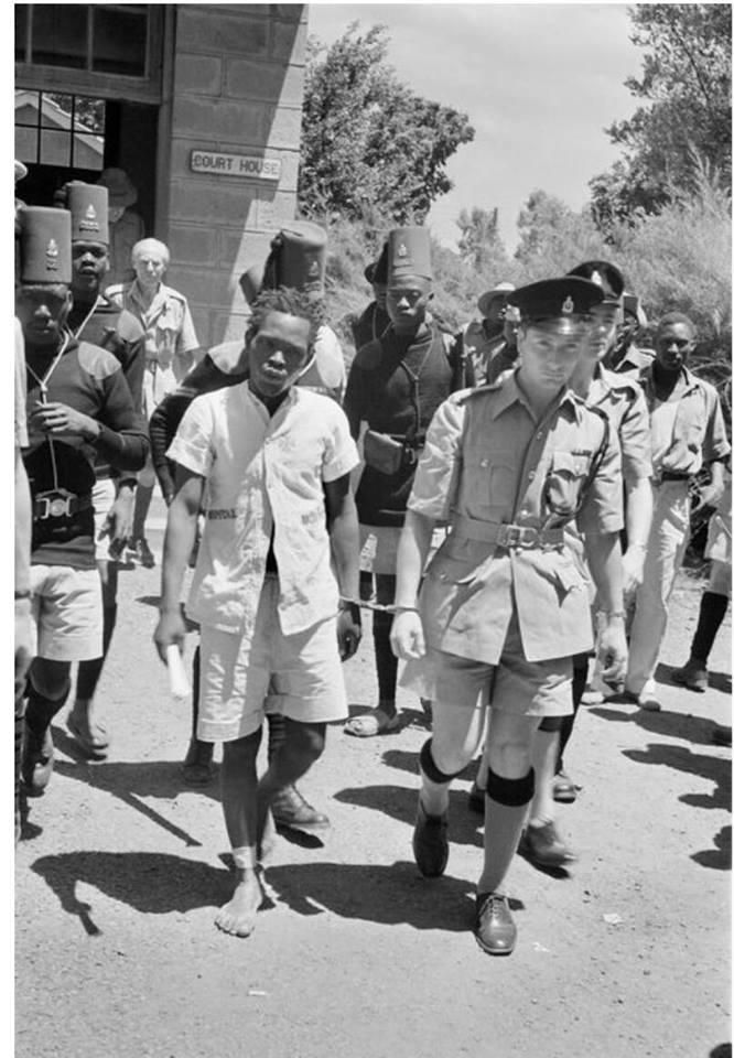 The trial of Maumau legend General China in 1962.