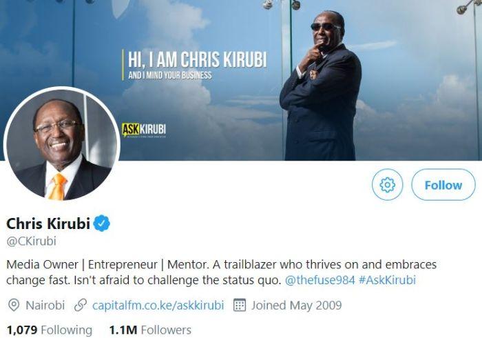 10 Most Followed Kenyans on Twitter as at December 2018 - Kenyans co ke