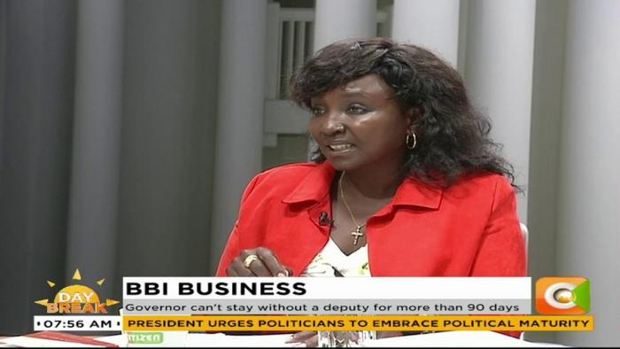 Uasin Gishu Woman Rep Gladys Boss Shollei speaking on Citizen TV, November 28.