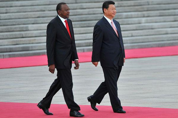 President Uhuru Kenyatta and the Chinese President Xi Jinping meeting in China on August 13, 2013.