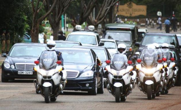 A man was arrested after trying to block President Uhuru Kenyatta's motorcade on December 10, 2019