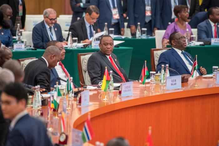 Uhuru attending a High Level Business forum during FOCAC 2018 Summit