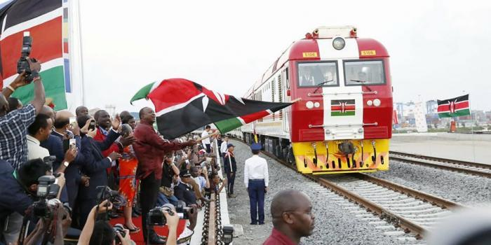 President Uhuru Kenyatta launches the SGR Phase 1 on May 31, 2017.