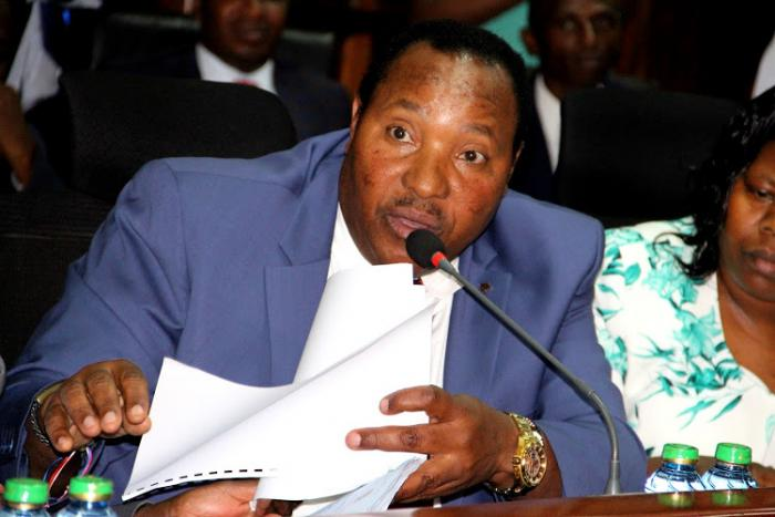 Kiambu Governor Ferdinand Waititu before the Senate Public Accounts and Investments Committee on May 2, 2019