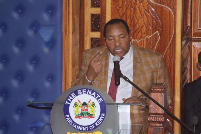 Kiambu Governor Ferdinand Waititu before the Senate on January 28, 2020