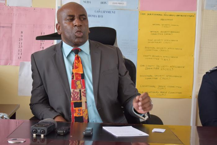 Homa Bay County Commissioner Harman Shambi