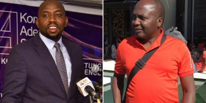 A collage  of Senator Kipchumba Murkomen and lawyer Donald Kipkorir