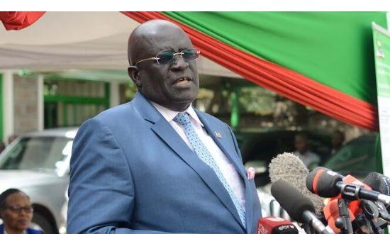 Education CS George Magoha speaking during the release of the 2019 KCPE results on Monday, December 18, 2019