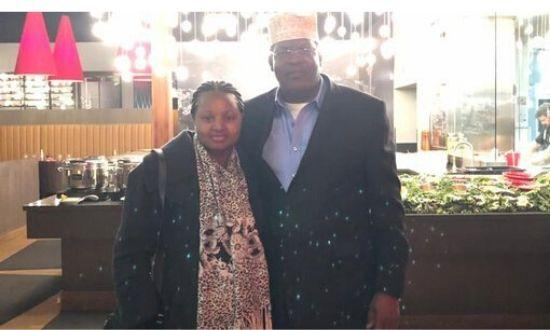 Miguna Miguna and his wife Jane Miguna while they celebrated their 20th anniversary on Thursday, February 13, 2020.