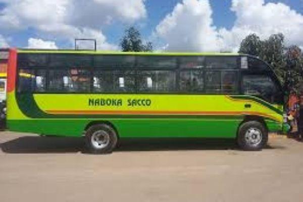 A bus from the NABOKA SACCO