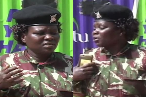 The female police officer who on Thursday, October 16, warned IG Mutyambai not to push her to the extreme as she might use her weapon unlawfully. She however prefered to use dialogue to negotiate a solution to her predicament