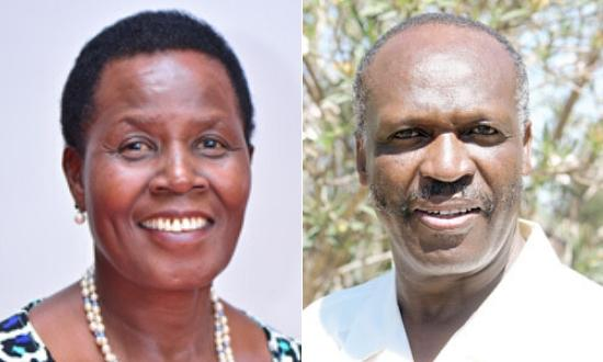 Beatrice Kones(left) succeeded her late husband, Kipkalya Kones(right) as member of parliament for Bomet east after he died in a plane crash in June 2008