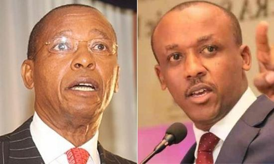 Mutula Kilonzo(left) passed on in April 2013 and was succeeded by his son, Mutula Kilonzo Jr as Makueni county senator.