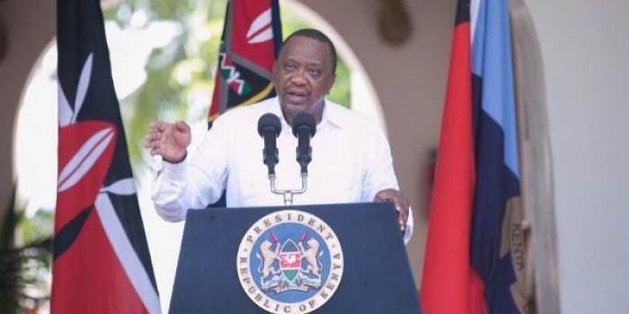 President Uhuru Kenyatta makes an address to the nation from State House, Mombasa on Tuesday, January 14, 2020, where he reshuffled his cabinet.