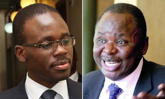 Moses Kajwang'(left) succeeded his late brother, Otieno Kajwang'(right) as senator for Homa Bay county.