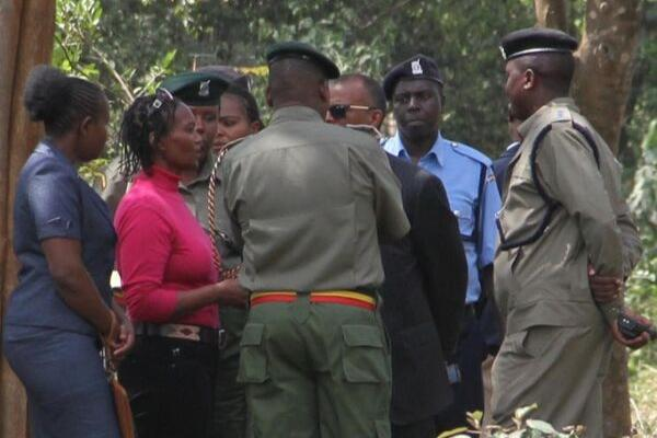 Sarah Wairimu heavily guarded at her husband's funeral.