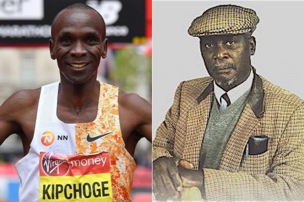 Legendary athlete Kipchoge Keino and Kenya's first Vice President Jaramogi Oginga. Oscar Sudi blasted fake news alleging that he proposed a road in Eldoret to be renamed after Eliud Kipchoge on Wednesday, October 16