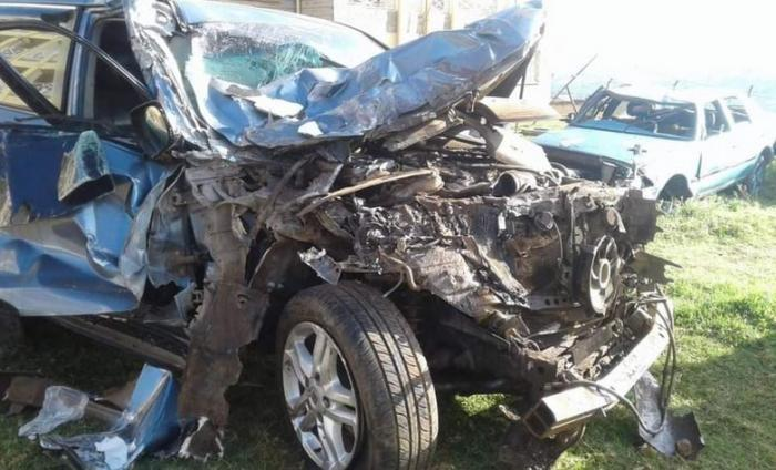 Wreckage of David Rudisha's vehicle after the car crash. He has stated that he will resume training.
