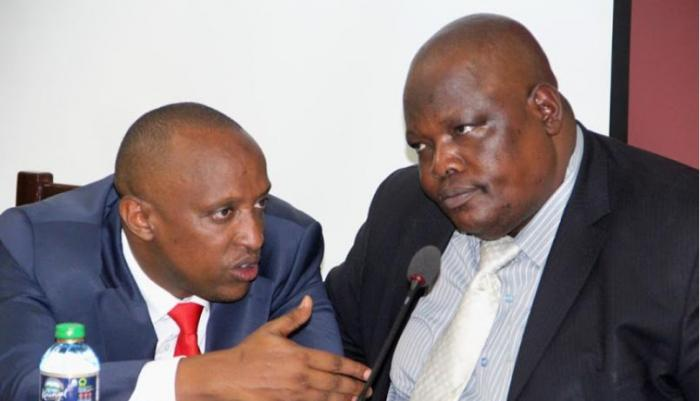 Former majority leader Abdi Guyo and minority leader Elias Otieno. Both were replaced on the Nairobi Couty Assembly Service board