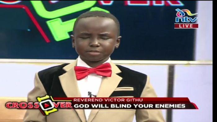 Victor Githu deep in prayer at NTV studios on January 19, 2020.
