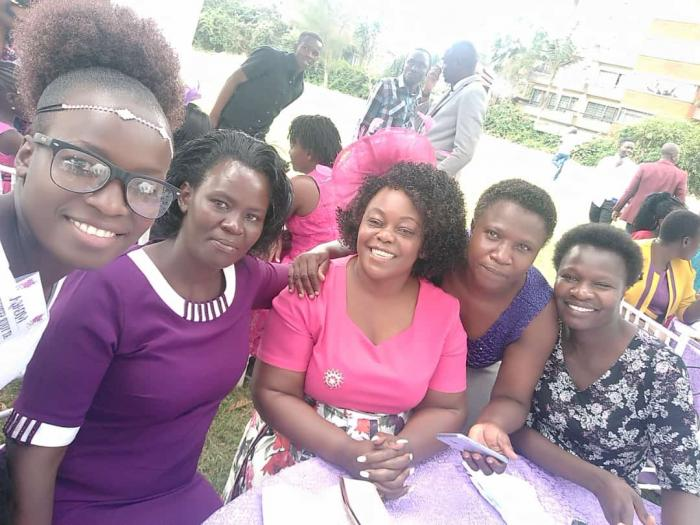Suba North MP Millie Odhiambo posing for photos with guests at a wedding on Sunday, November 10.