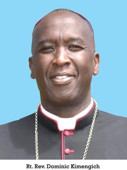 Bishop Kimengich who was appointed the Bishop of Eldoret Diocese by Pope Francis on Saturday, November 16.