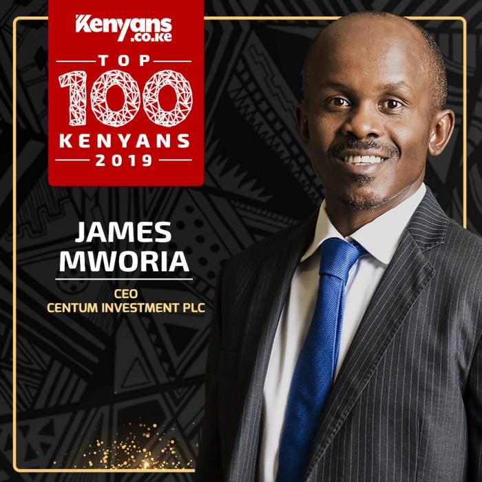 Centum Investments CEO James Mworia Equity CEO James Mwangi is among Top 100 Kenyans 2019.