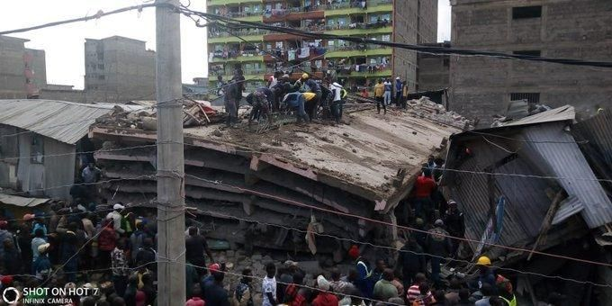 Building collapses at Tassia estate, Nairobi.