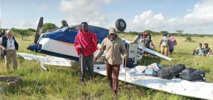 An aircraft crashed at Mashuru Sub-county in Kajiado county on Thursday, January 16.