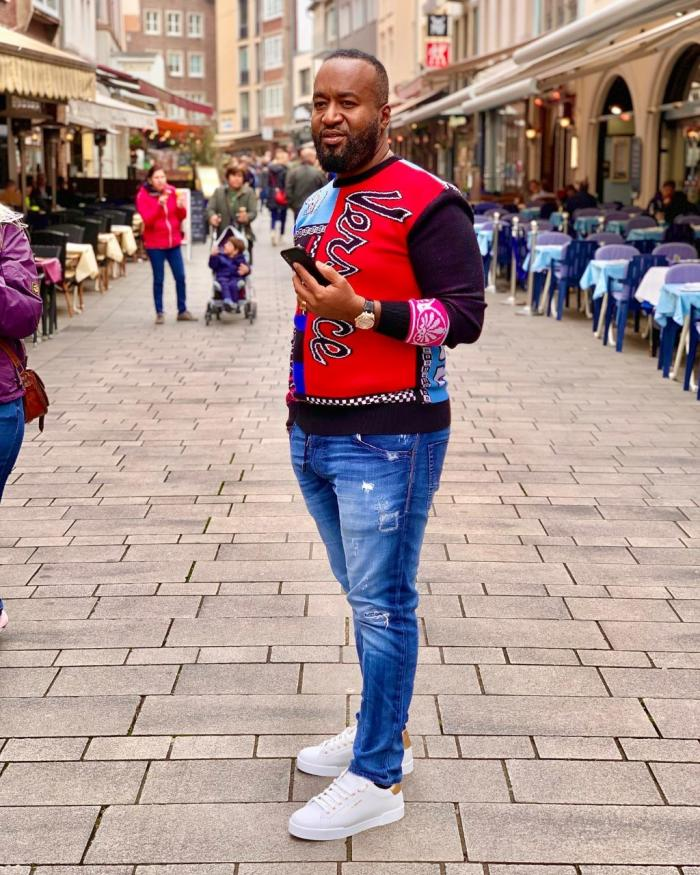 Mombasa Governor Ali Hassan Joho wearing the Patchwork Intarsia-knit wool jumper