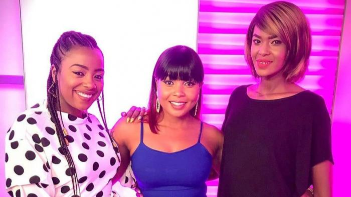 (From left) Jackie Matubia, Kush Tracey and Noni Gathoni. Matubia exited Switch TV in January 2020.