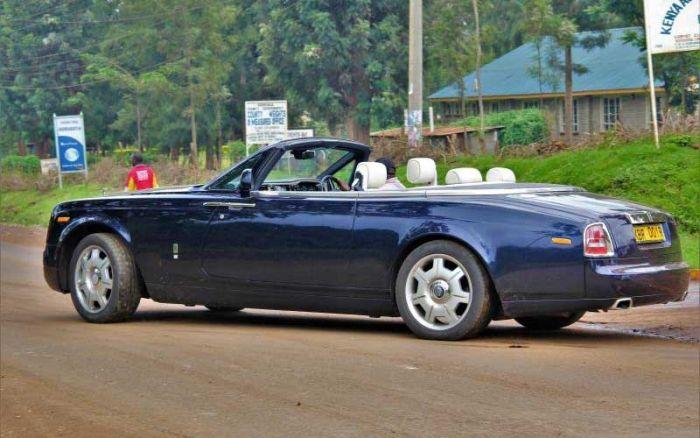 Andrew Ngirici's Rolls Royce Convertible