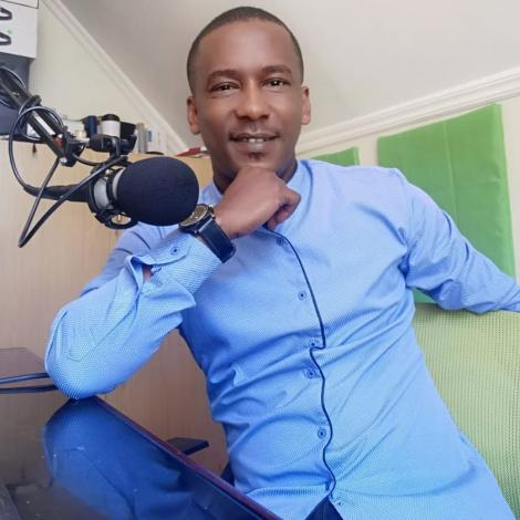 Radio presenter Mike Mondo hosting a show on Classic FM at home on July, 23, 2020