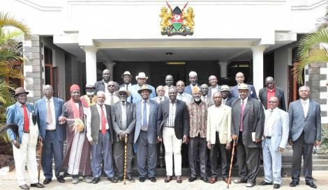Deputy President William Ruto meets National Council of Elders his Karen home on Tuesday, October 27, 2020