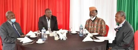 Deputy President William Ruto meets National Council of Elders headed by its patron Captain Kung'u Muigai, chairman Phares Rutere and the Nationhood Sector Principal Administrative Secretary Michael Ndung'u at his Karen home on Tuesday, October 27, 2020