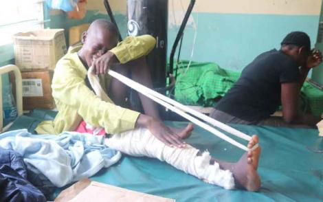 13-year-old minor beaten by police in Busia town on April 3, 2020.