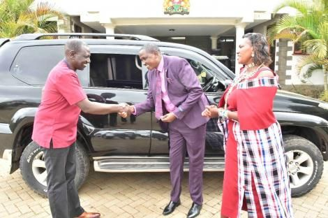 DP William Ruto meets with Rev Daniel Lotuno on Tuesday, May 4