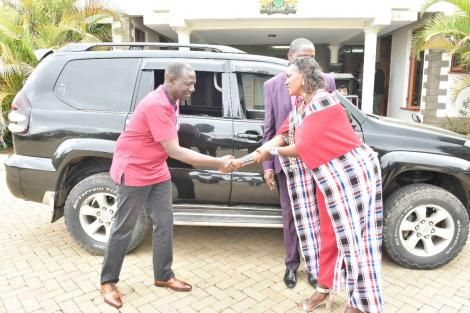 DP William Ruto gifts Rev Daniel Lotuno a brand new Toyota Land Cruiser Prado on Tuesday, May 4