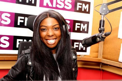 Radio presenter Adelle Onyango at Kiss FM studio in April 2018.