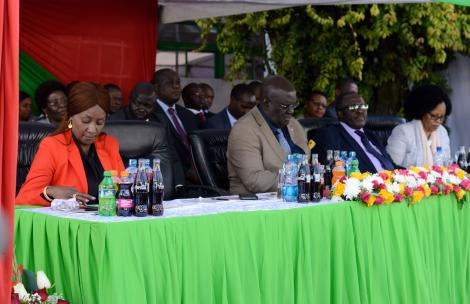 TSC CEONancy Macharia, Bellio Kipsang CS Education Prof George Magoha and other Education while releasing 2019 KCPE results on December 18, 2019