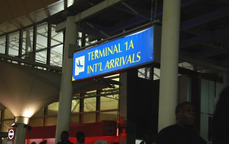 Jomo Kenyatta International Airport (JKIA) International Arrival Terminal. Thursday, February 14, 2020