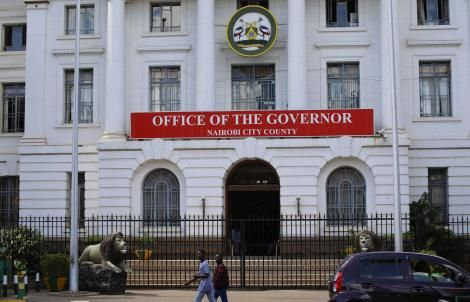 An exterior shot of the City Hall front entrance In Nairobi City. Thursday, February 20, 2020
