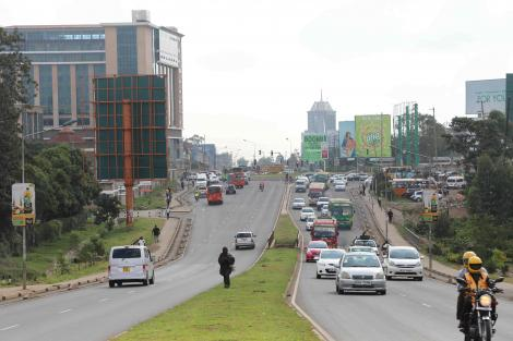 Motorists Along the Busy Ngong Road in Nairobi. Wednesday, March 4, 2020.