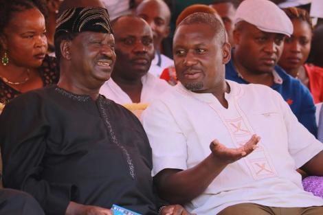 Rarieda MP Otiende Amollo with ODM Leader Raila Odinga at a past event
