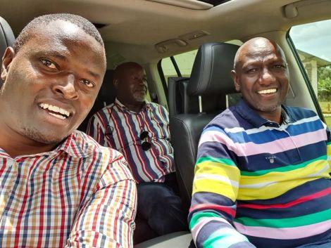 Deputy President William Ruto drives Kiharu MP Ndindi Nyoro on Saturday, March 14, 2020