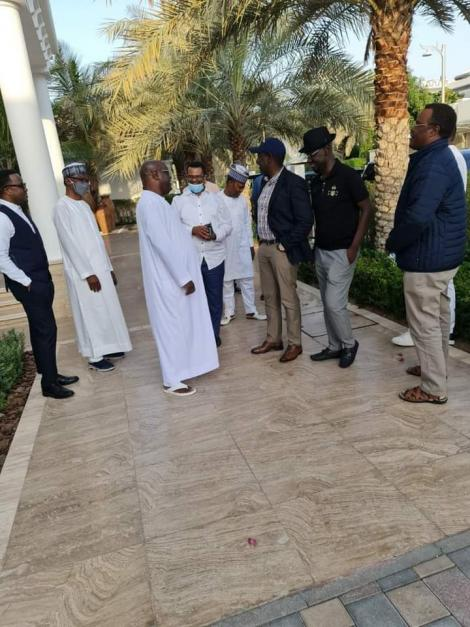 Deputy President William Ruto in Dubai on November 20, 2020