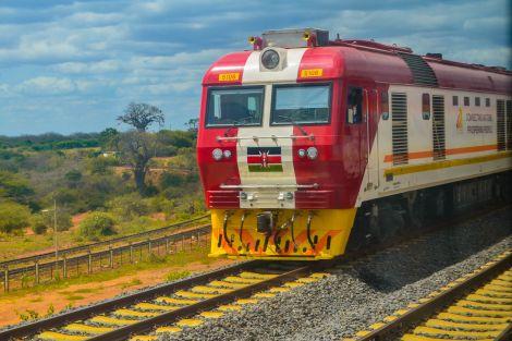 A Kenyan Railways DF8B locomotive.
