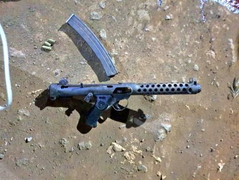 A Patchet submachine gun recovered from ex-Kamiti convicts on Sunday, October 11, 2020.