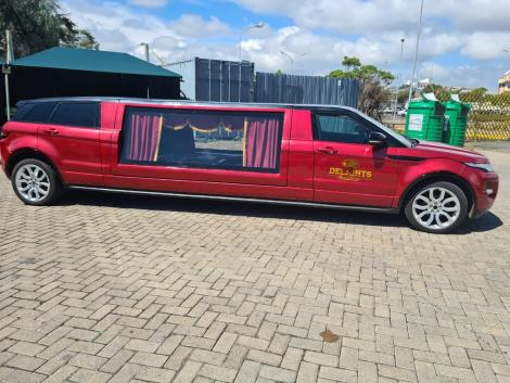 A Range Rover Limousine Hearse owned by <a class=